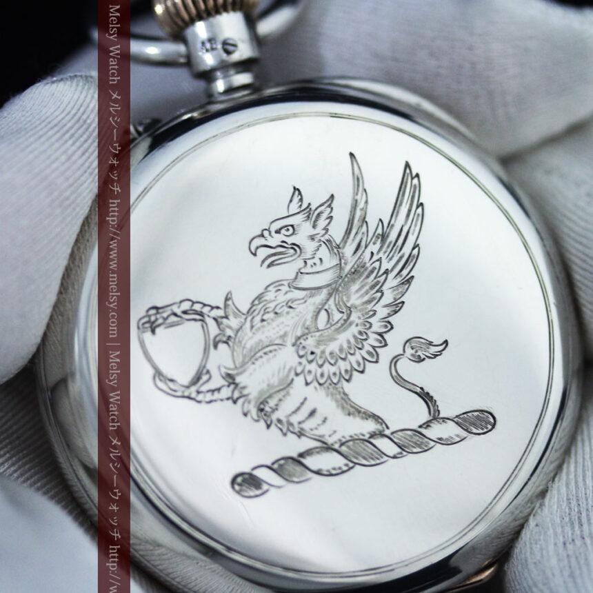 ベンソン&ロンジンのアンティーク懐中時計-P2064-17