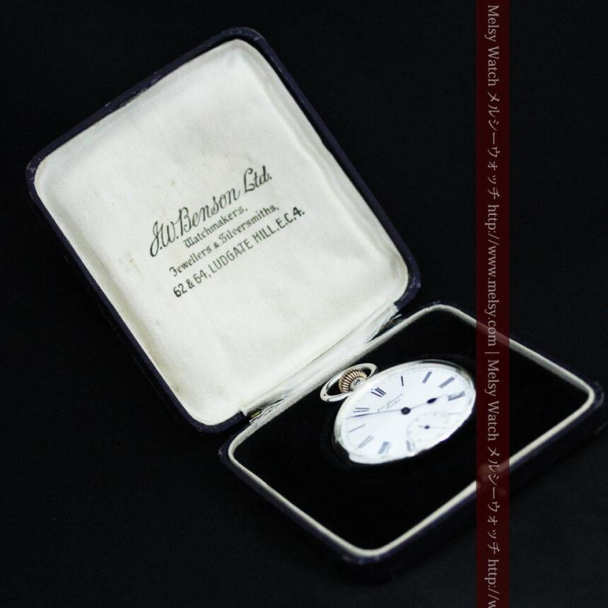ベンソン&ロンジンのアンティーク懐中時計-P2064-18