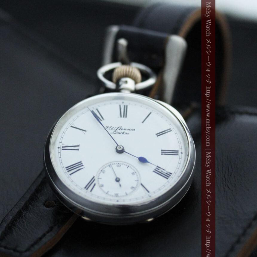 ベンソン&ロンジンのアンティーク懐中時計-P2064-3