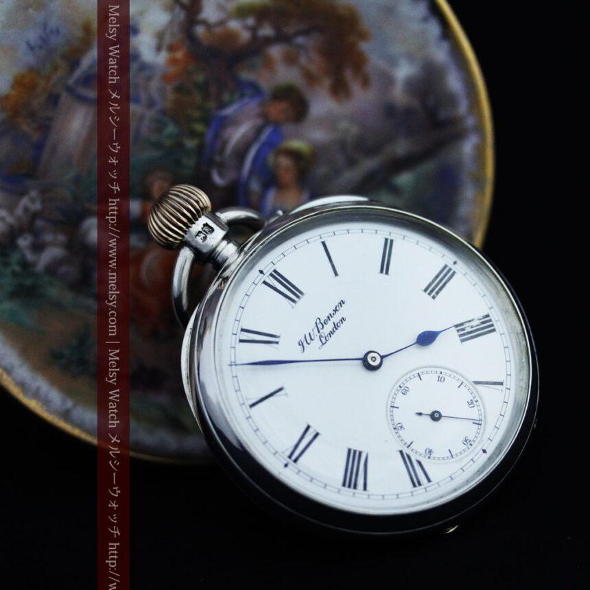 ベンソン&ロンジンのアンティーク懐中時計-P2064-4