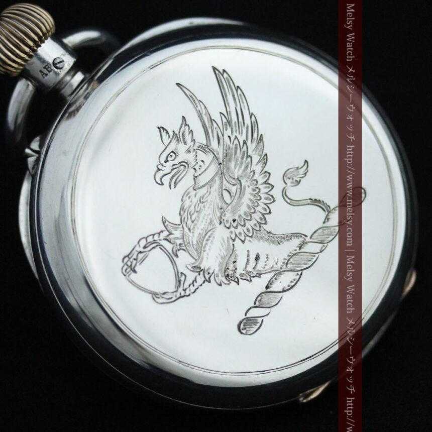 ベンソン&ロンジンのアンティーク懐中時計-P2064-5