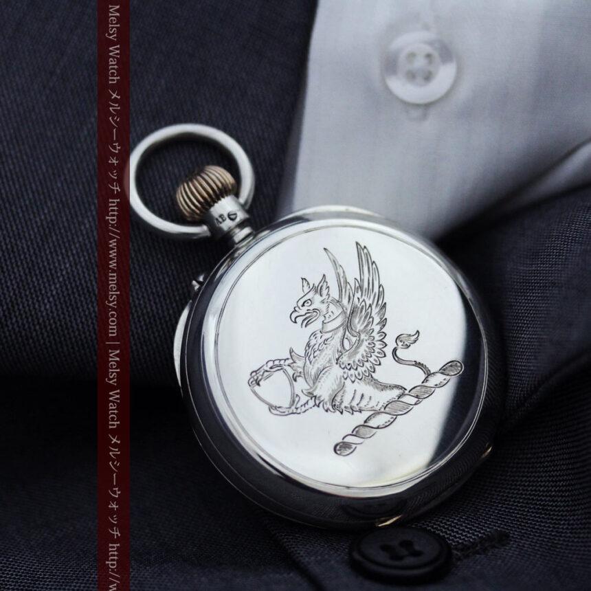 ベンソン&ロンジンのアンティーク懐中時計-P2064-6