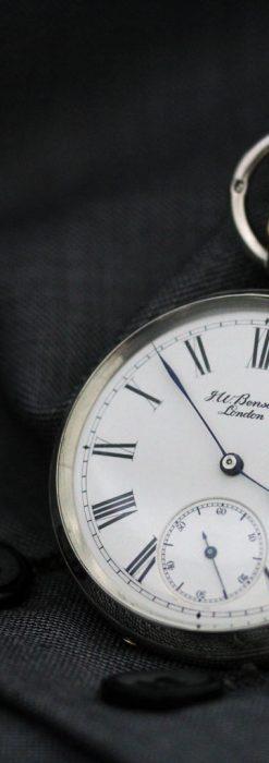ベンソン&ロンジンのアンティーク懐中時計-P2064-7