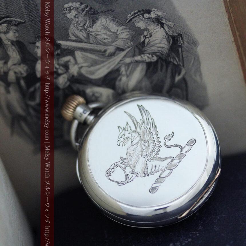 ベンソン&ロンジンのアンティーク懐中時計-P2064-8