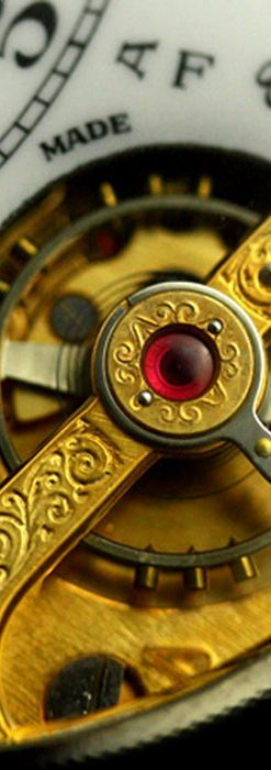 ヘブドマスのアンティーク8日巻き懐中時計-P2077-1