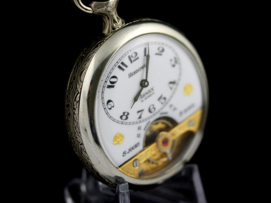 ヘブドマスのアンティーク8日巻き懐中時計-P2077-11