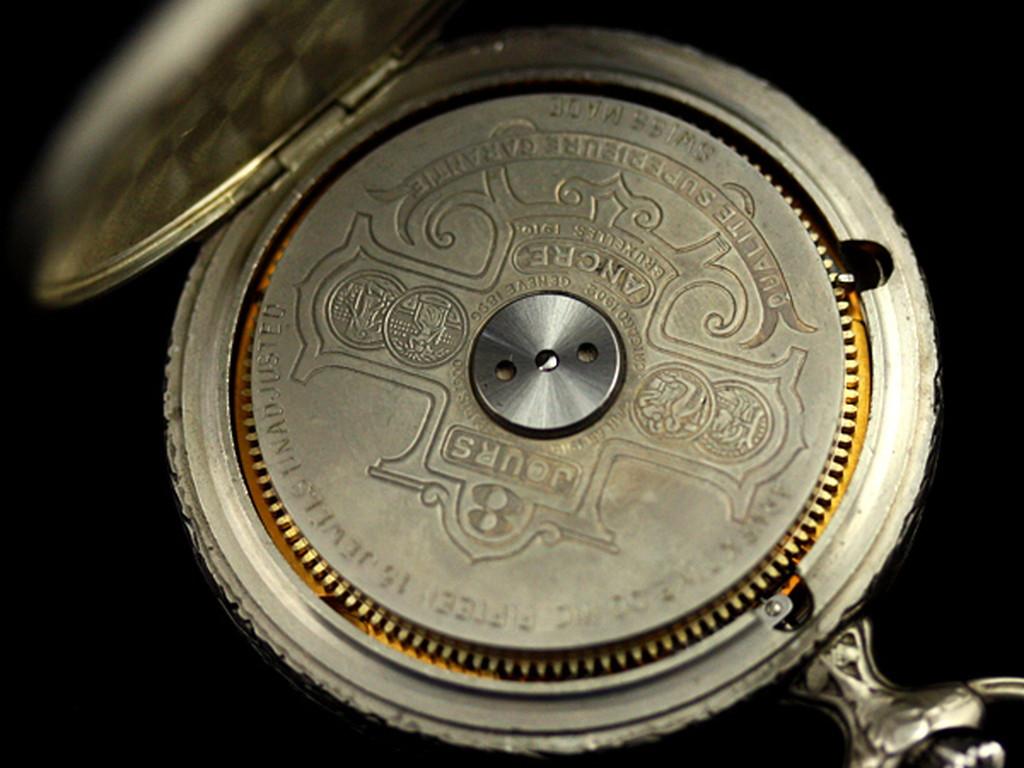 ヘブドマスのアンティーク8日巻き懐中時計-P2077-14