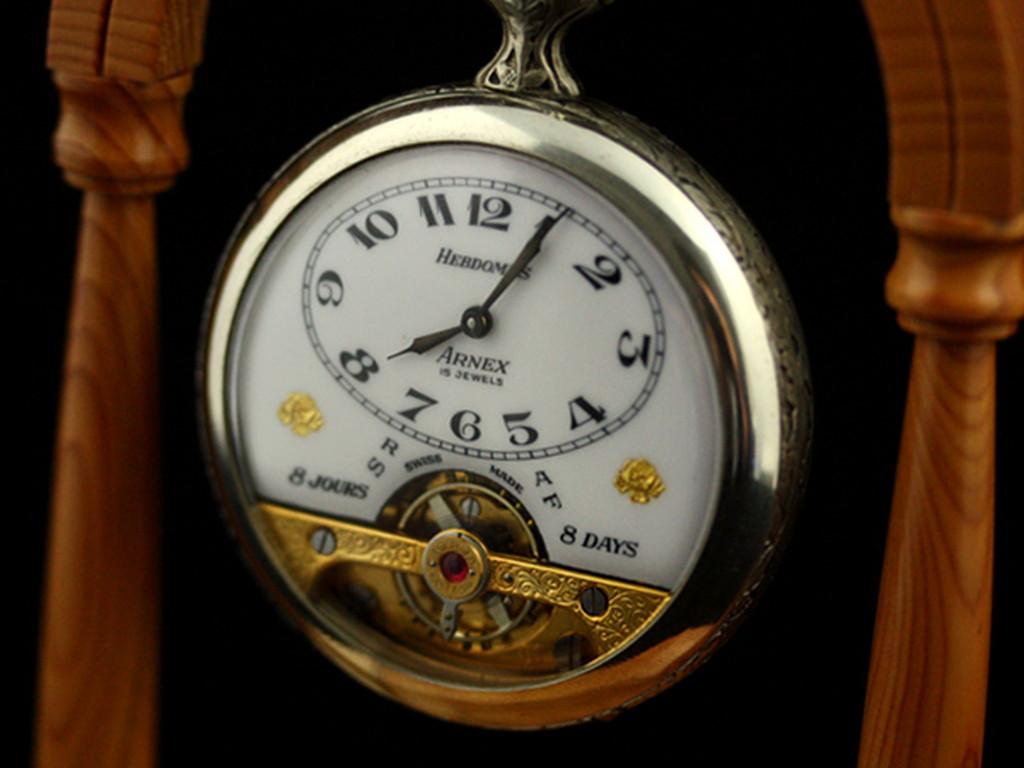 ヘブドマスのアンティーク8日巻き懐中時計-P2077-3