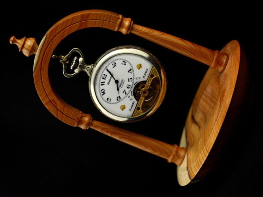 ヘブドマスのアンティーク8日巻き懐中時計-P2077-6