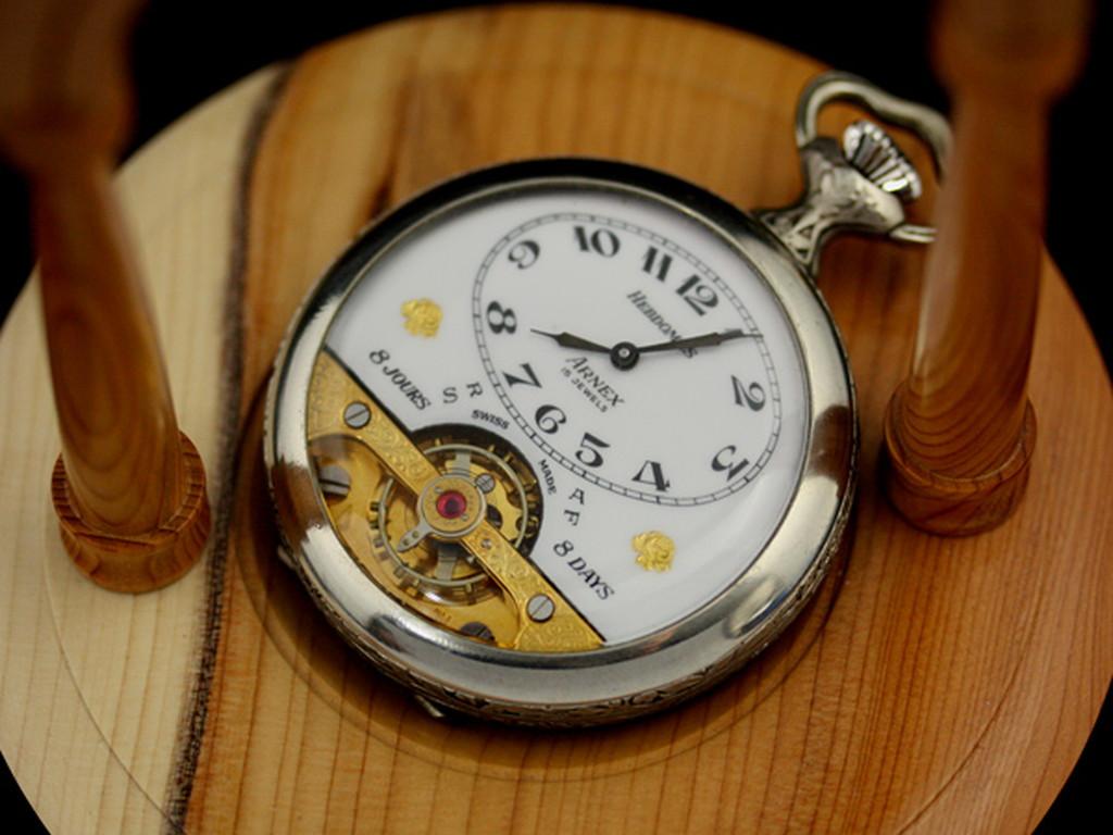 ヘブドマスのアンティーク8日巻き懐中時計-P2077-7