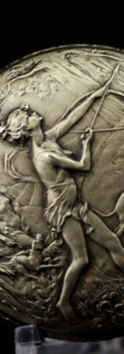 ヘブドマスのアンティーク8日巻き懐中時計-P2077-8