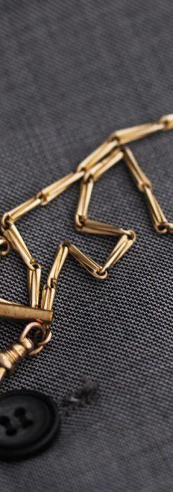 ジュールズマシイのアンティーク金無垢懐中時計・エナメル装飾-P2105-11