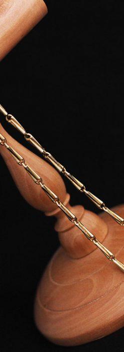 ジュールズマシイのアンティーク金無垢懐中時計・エナメル装飾-P2105-13