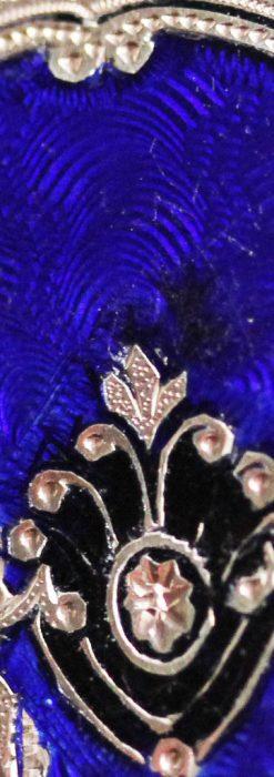 ジュールズマシイのアンティーク金無垢懐中時計・エナメル装飾-P2105-18