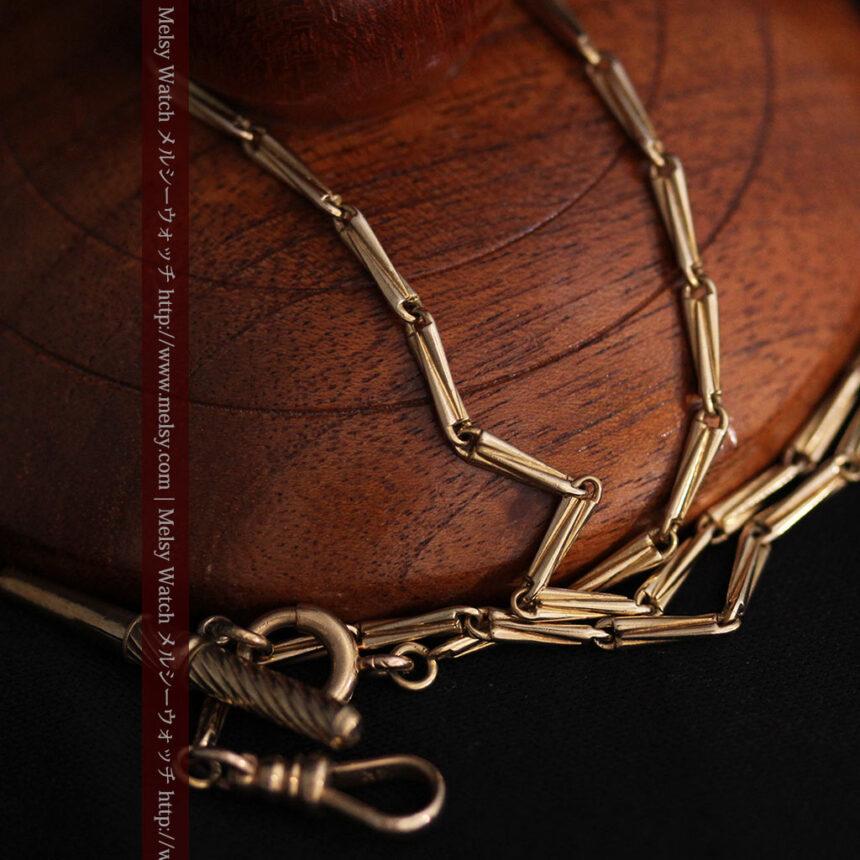 ジュールズマシイのアンティーク金無垢懐中時計・エナメル装飾-P2105-25