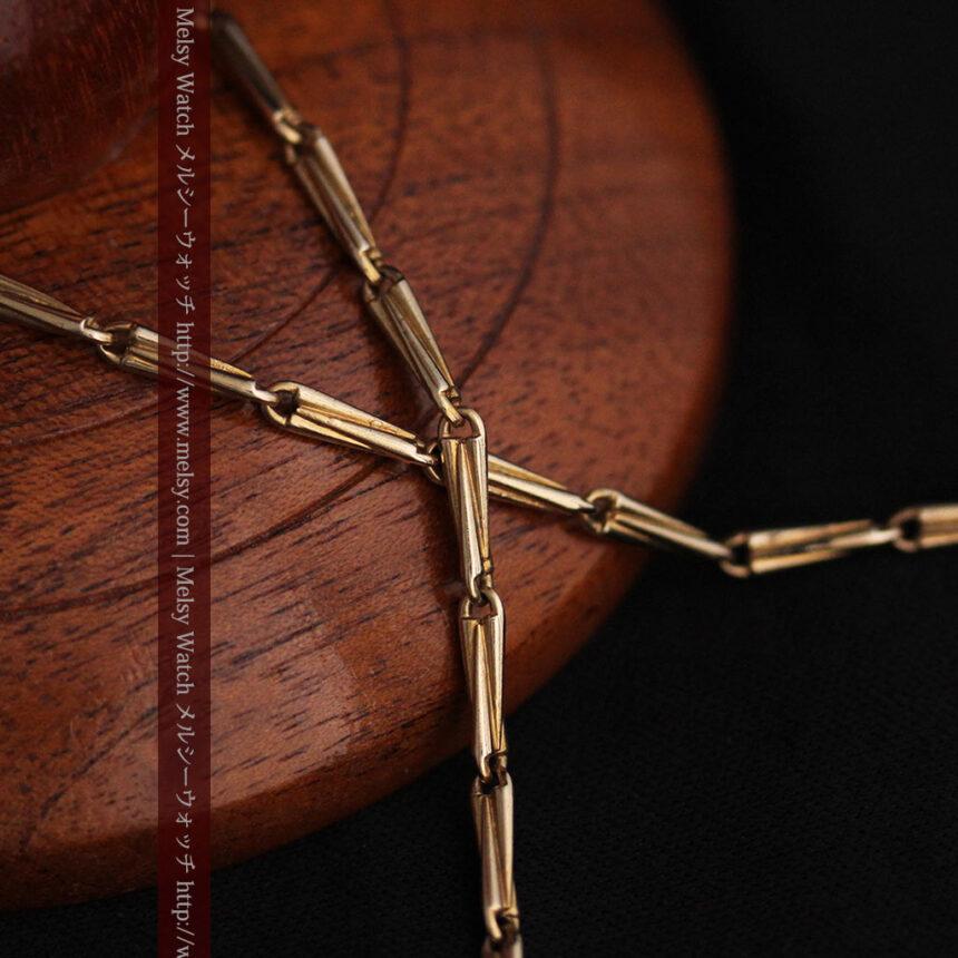 ジュールズマシイのアンティーク金無垢懐中時計・エナメル装飾-P2105-26