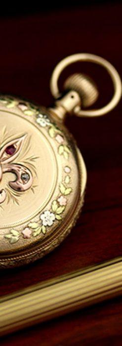 エルジンのアンティーク懐中時計-P2113-1