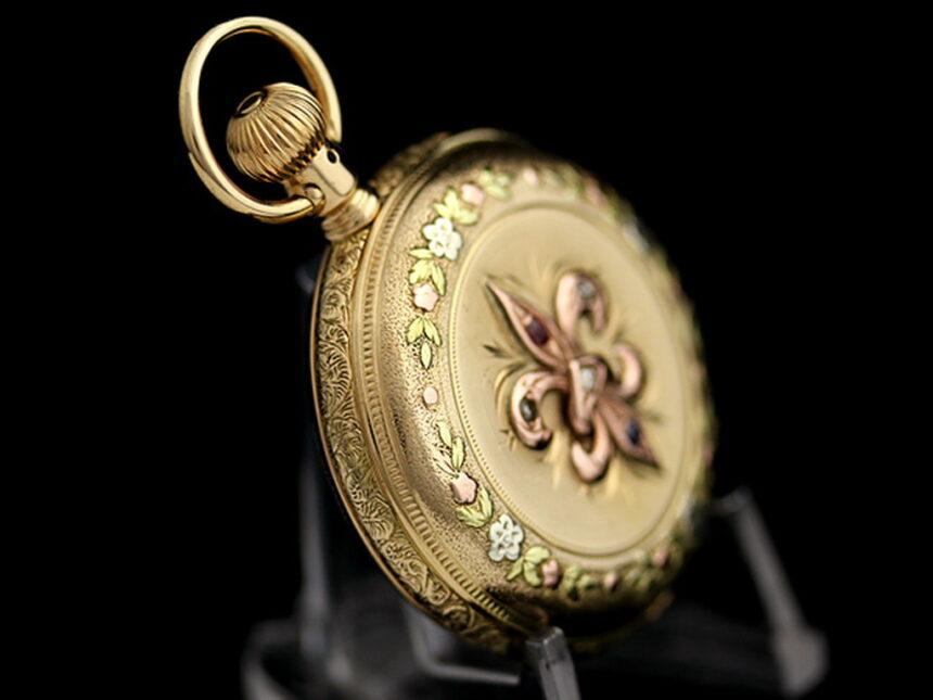 エルジンのアンティーク懐中時計-P2113-10