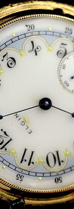 エルジンのアンティーク懐中時計-P2113-12