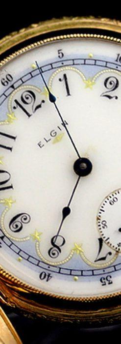 エルジンのアンティーク懐中時計-P2113-13