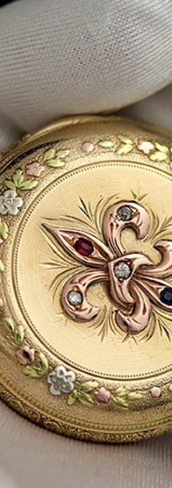 エルジンのアンティーク懐中時計-P2113-6