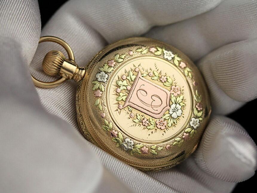 エルジンのアンティーク懐中時計-P2113-7