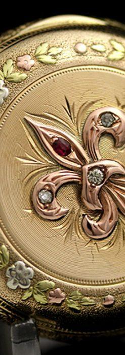 エルジンのアンティーク懐中時計-P2113-8