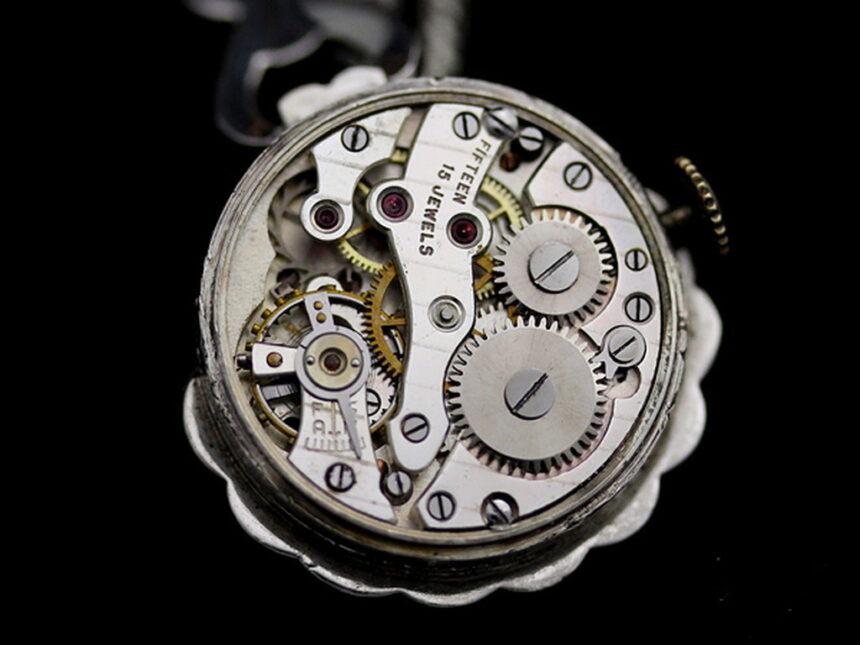 ブローチ型時計-P2131-14