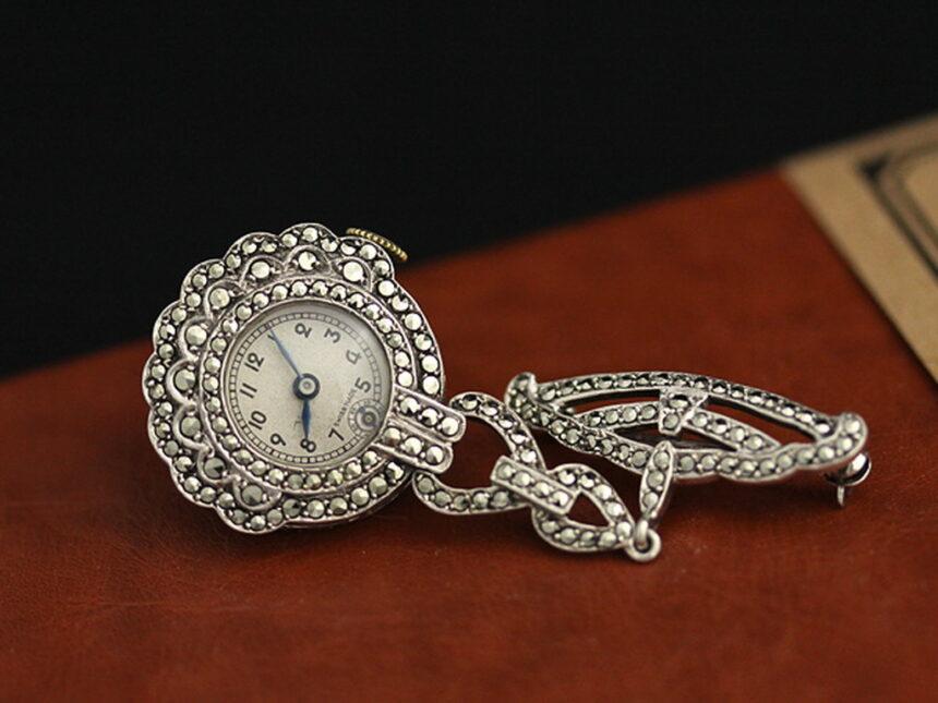 ブローチ型時計-P2131-3