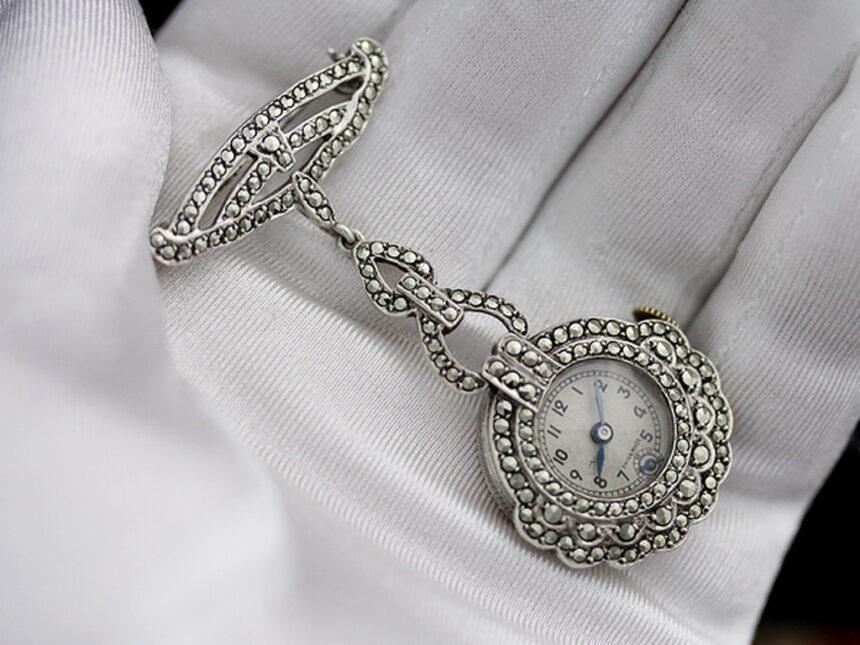 ブローチ型時計-P2131-7