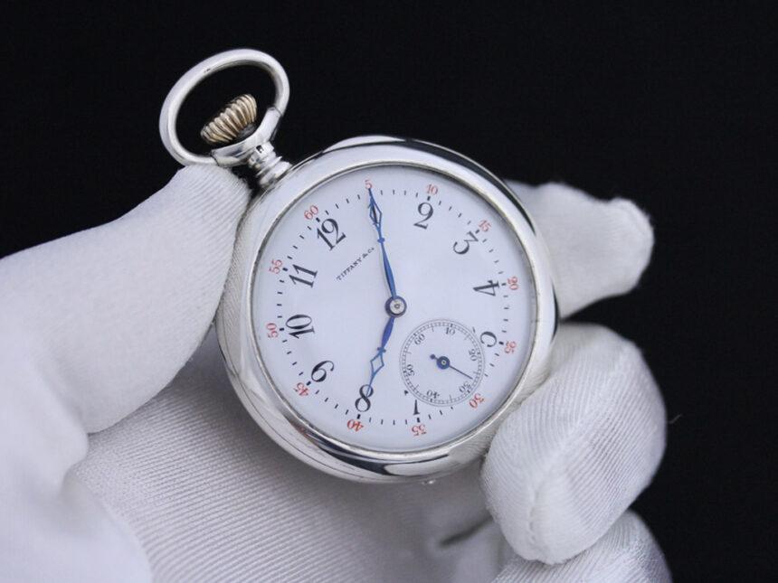 ティファニーのアンティーク懐中時計-P2137-7