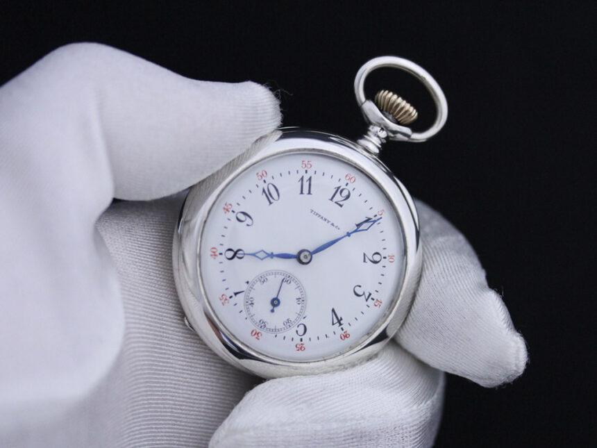 ティファニーのアンティーク懐中時計-P2137-8