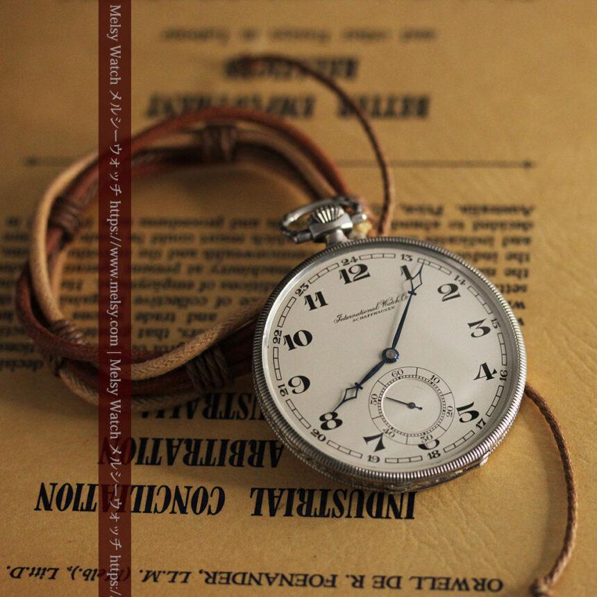 IWC 艶のある上品な銀無垢アンティーク懐中時計 【1927年頃】-P2140-11