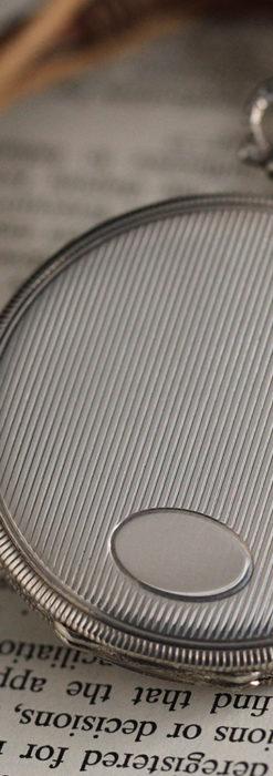 IWC 艶のある上品な銀無垢アンティーク懐中時計 【1927年頃】-P2140-14
