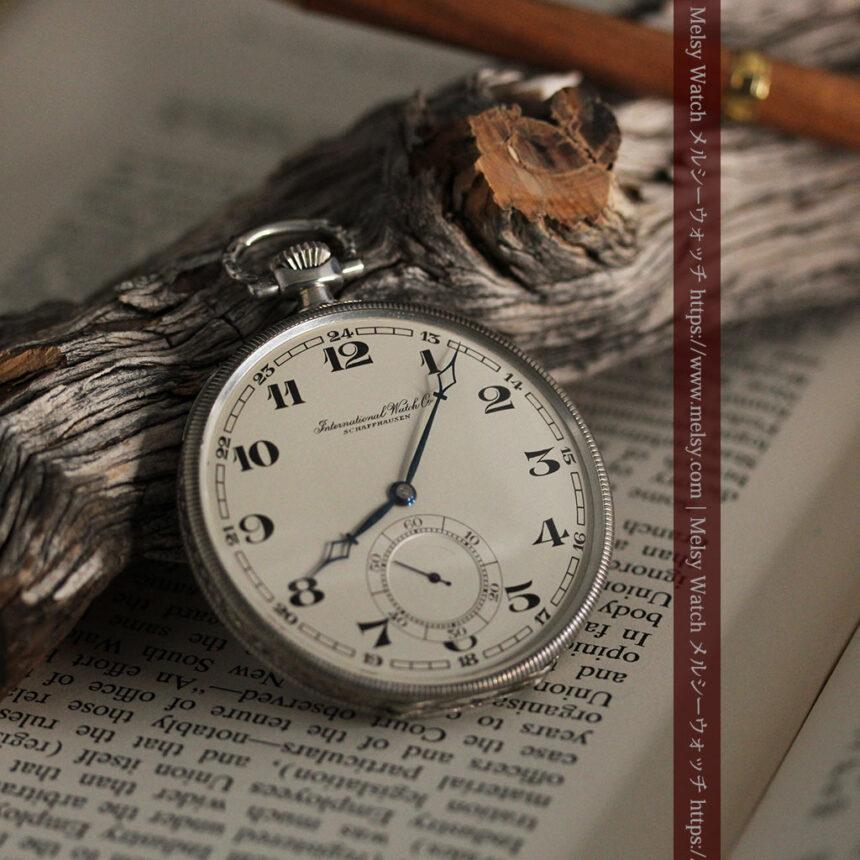 IWC 艶のある上品な銀無垢アンティーク懐中時計 【1927年頃】-P2140-15