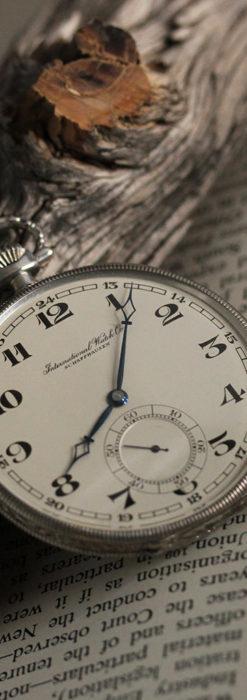 IWC 艶のある上品な銀無垢アンティーク懐中時計 【1927年頃】-P2140-16