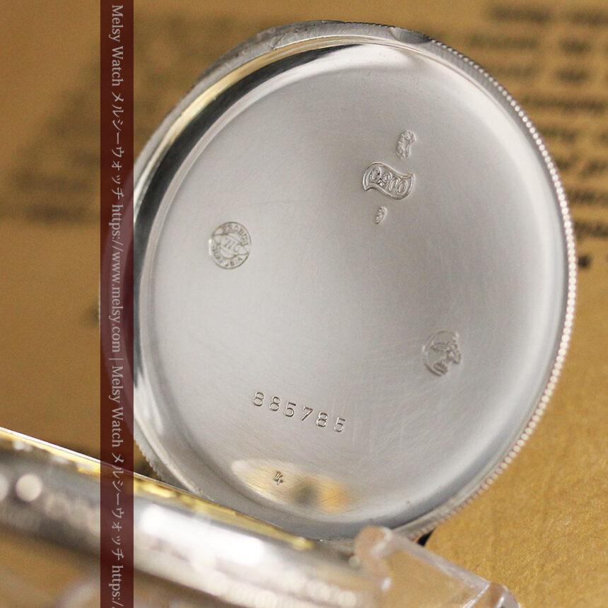 IWC 艶のある上品な銀無垢アンティーク懐中時計 【1927年頃】-P2140-17