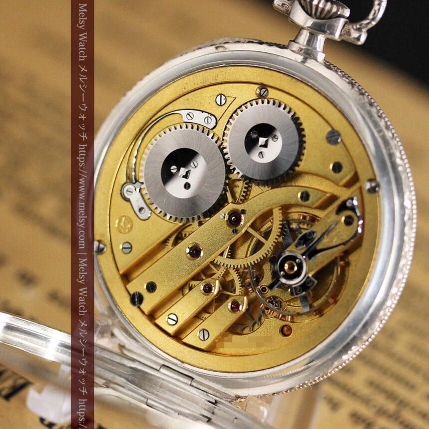IWC 艶のある上品な銀無垢アンティーク懐中時計 【1927年頃】-P2140-18