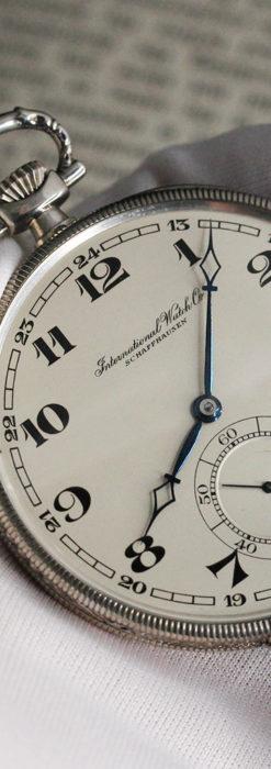 IWC 艶のある上品な銀無垢アンティーク懐中時計 【1927年頃】-P2140-4