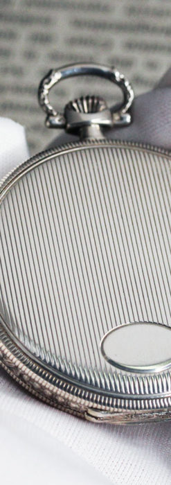IWC 艶のある上品な銀無垢アンティーク懐中時計 【1927年頃】-P2140-5