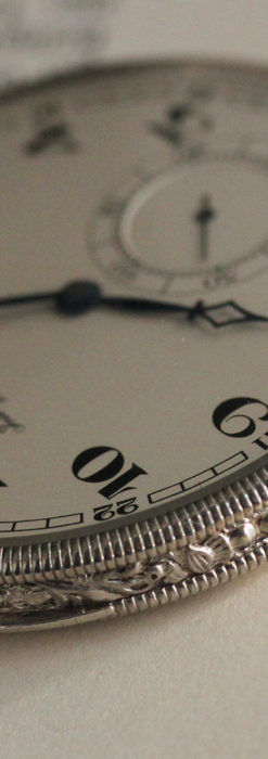 IWC 艶のある上品な銀無垢アンティーク懐中時計 【1927年頃】-P2140-6