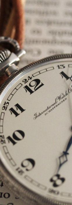IWC 艶のある上品な銀無垢アンティーク懐中時計 【1927年頃】-P2140-7