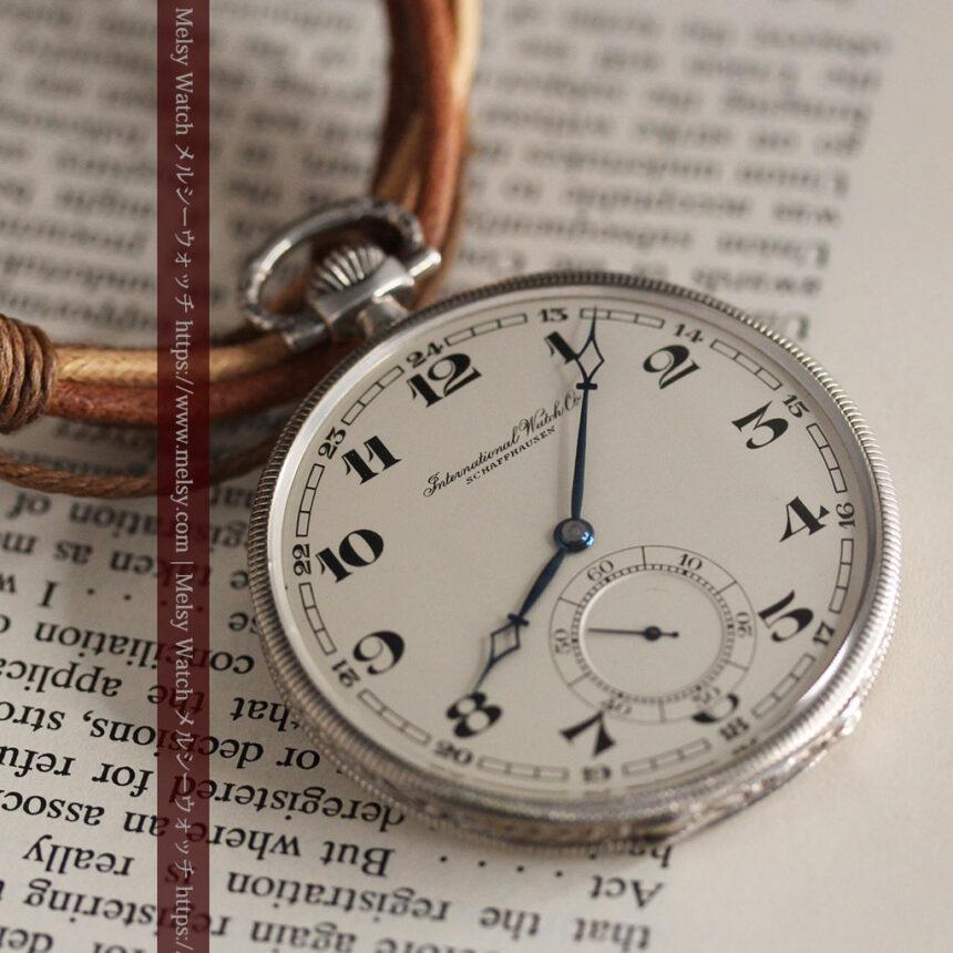 IWC 艶のある上品な銀無垢アンティーク懐中時計 【1927年頃】-P2140-8