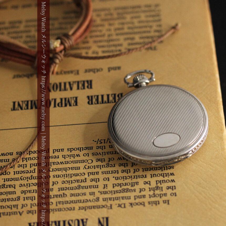 IWC 艶のある上品な銀無垢アンティーク懐中時計 【1927年頃】-P2140-9