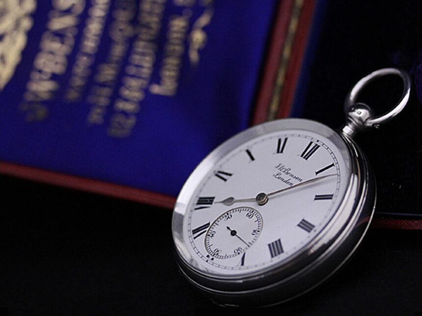 ベンソンのアンティーク懐中時計-P2161-1