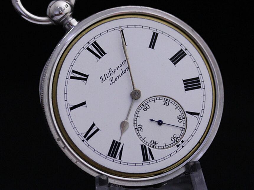 ベンソンのアンティーク懐中時計-P2161-14