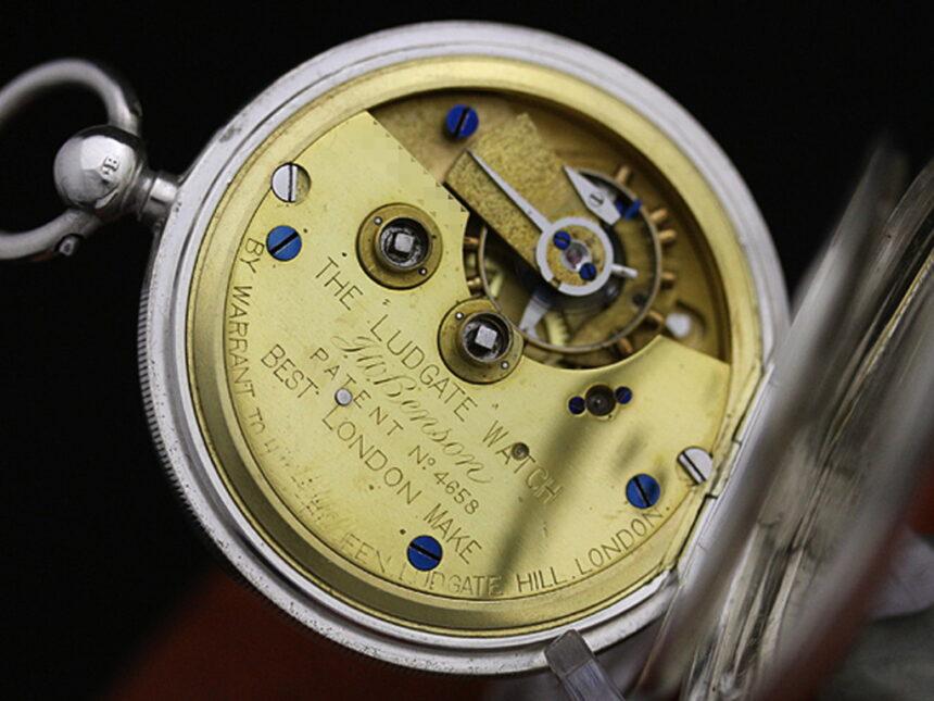 ベンソンのアンティーク懐中時計-P2161-18