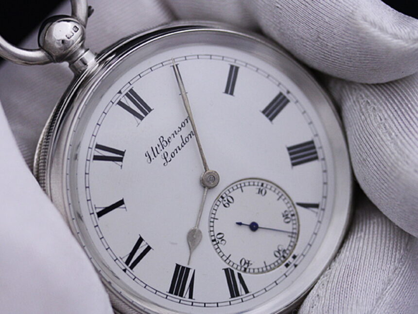 ベンソンのアンティーク懐中時計-P2161-4