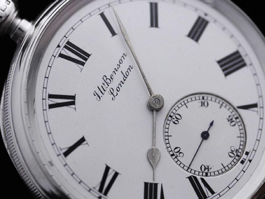 ベンソンのアンティーク懐中時計-P2161-7