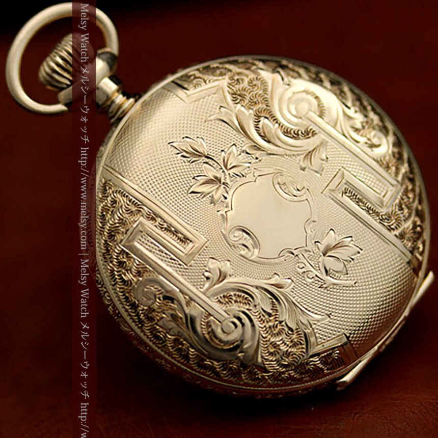 ウォルサムの絢爛なアンティーク金無垢懐中時計 【1896年製】-P2167-10